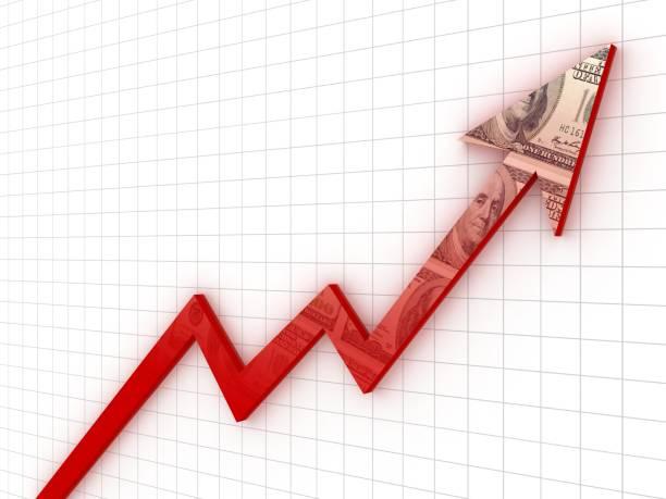 Dollar-Geld-Wachstum Grafik Grafik Investitionen – Foto