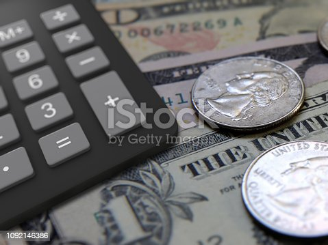 US dollar money loan calculator