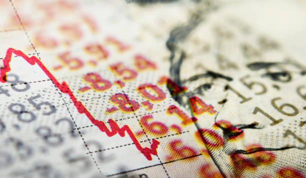Dollar-Note und Markt Diagramm – Foto
