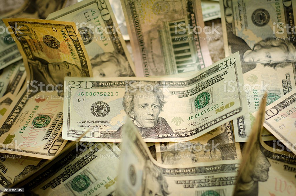 dollar notes stock photo