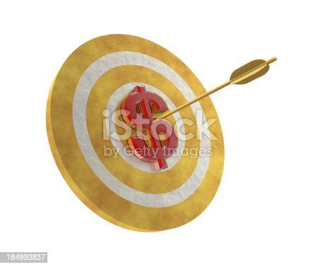 859332096 istock photo Dollar on Target 184993837