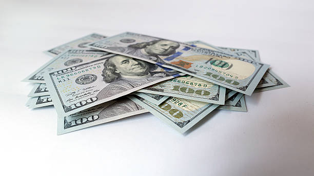 US dollar on white background
