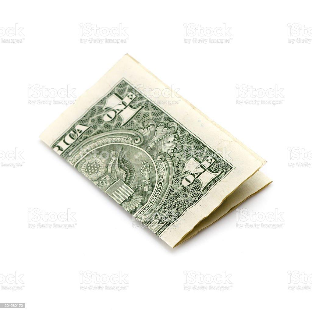dollar on white stock photo