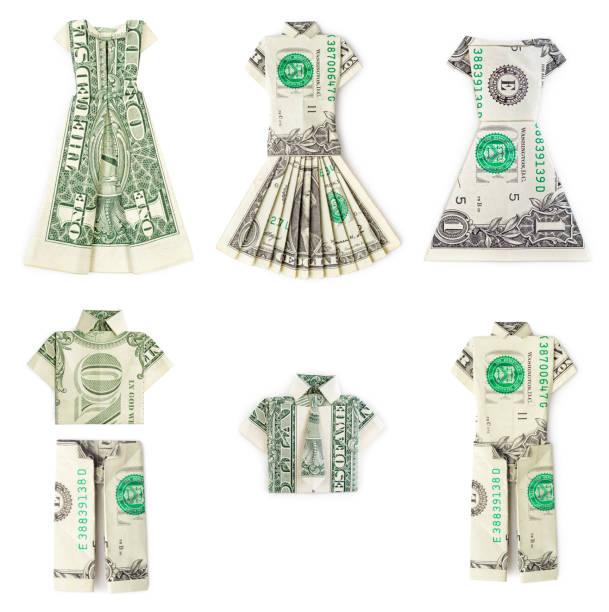 Dollar Origami vêtements d'isolement - Photo