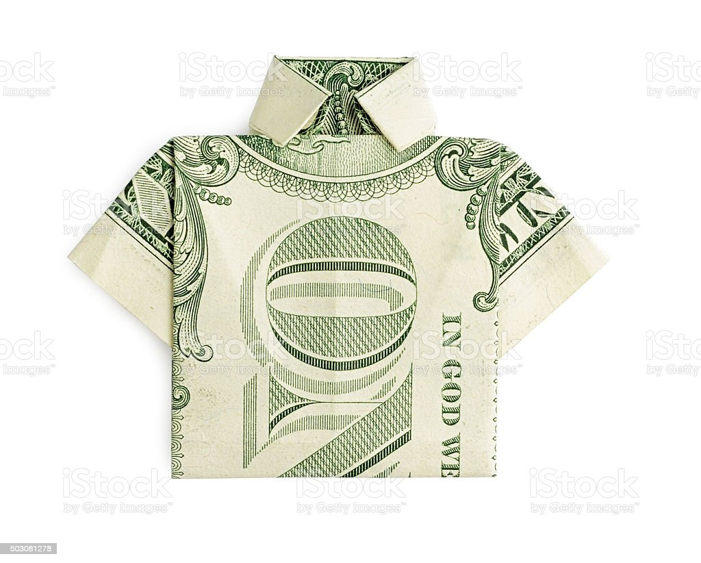 Money Origami Shirt and Tie Folding Instructions | 822x1024