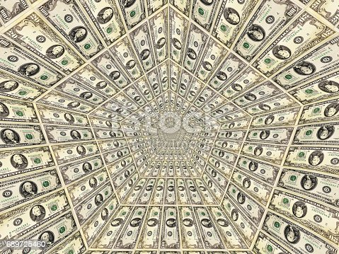 istock dollar pattern with flame on the background 689725460