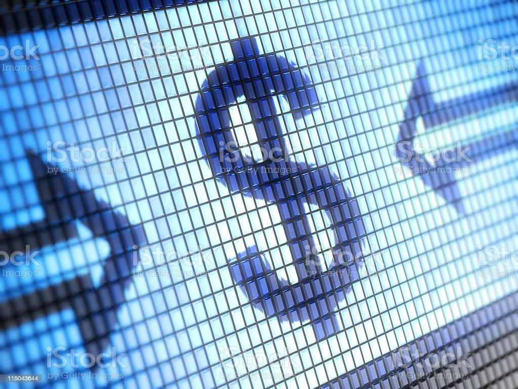 Dollar Dollar sign. More>> Blue Stock Photo