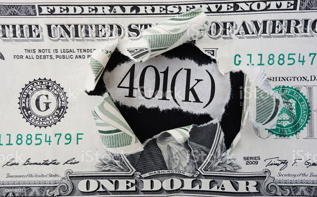 401(k) dollar stock photo