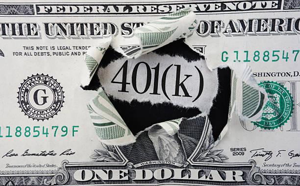 401 (k) долларов - буква k стоковые фото и изображения