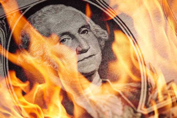dollar - burning stock pictures, royalty-free photos & images