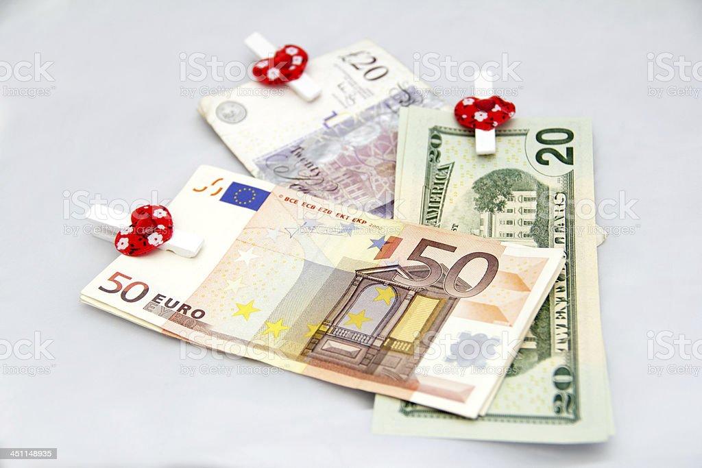 dollar pound euro stock photo