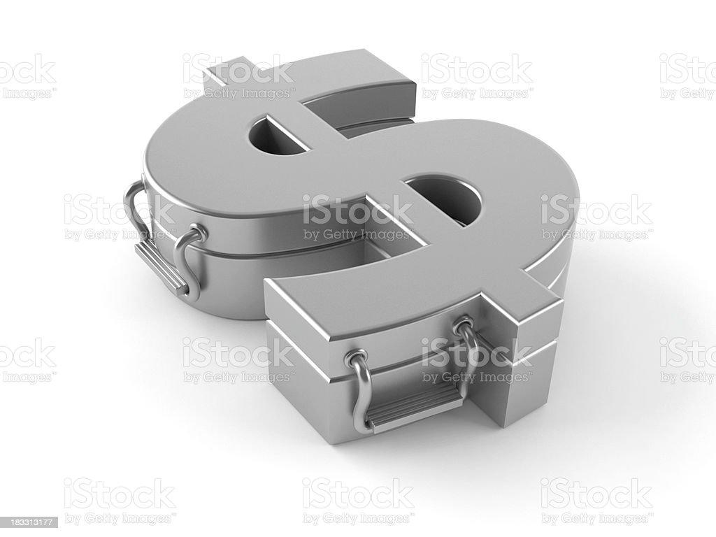 Dollar protection royalty-free stock photo
