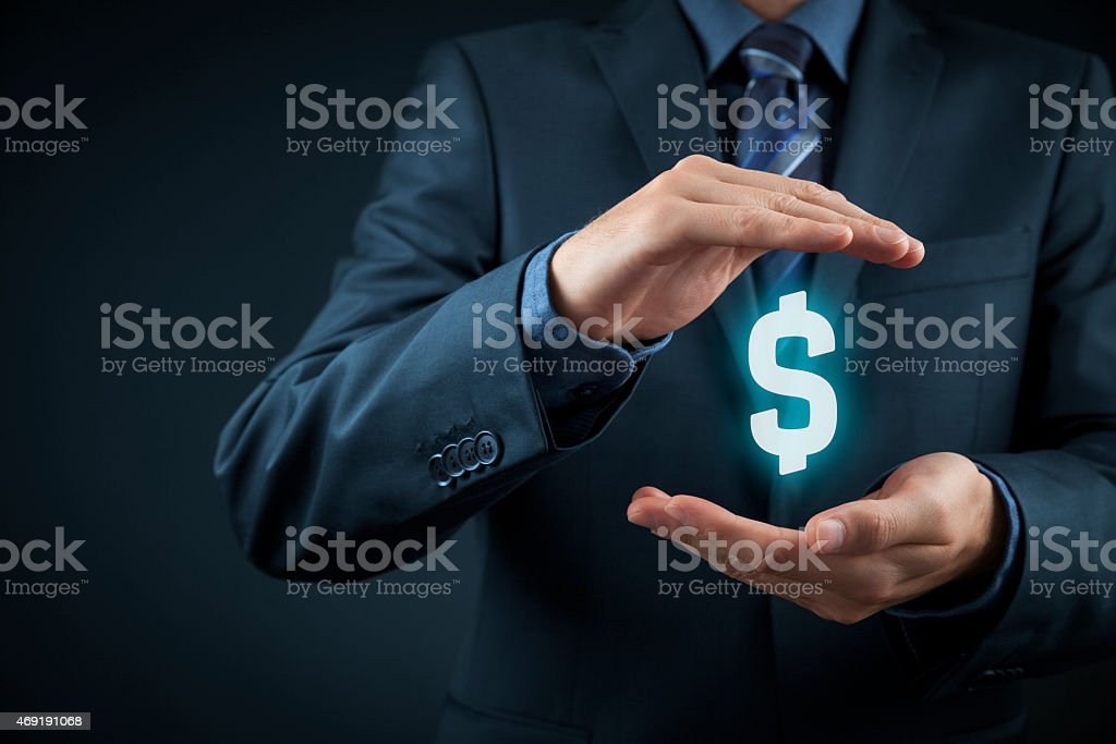Dollar protection stock photo