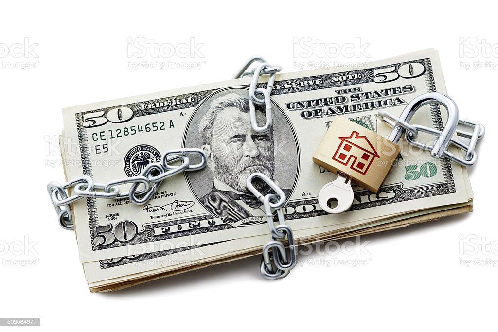 Dollar Reverse Mortgage stock photo