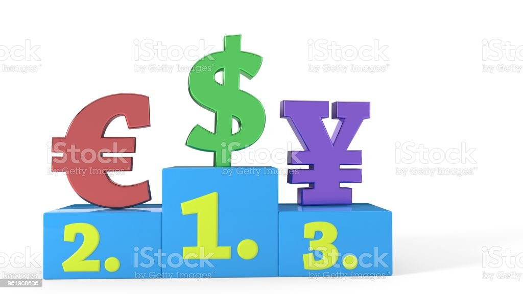 Dollar rise of leader concept, 3d rendering - Royalty-free Achievement Stock Photo