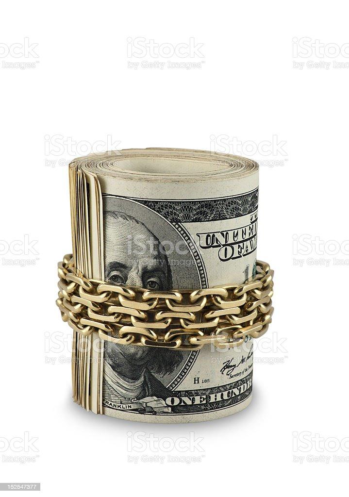 dollar roll royalty-free stock photo