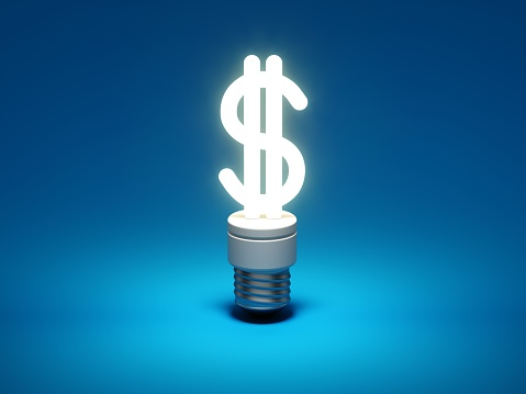 Dollar shaped light bulb