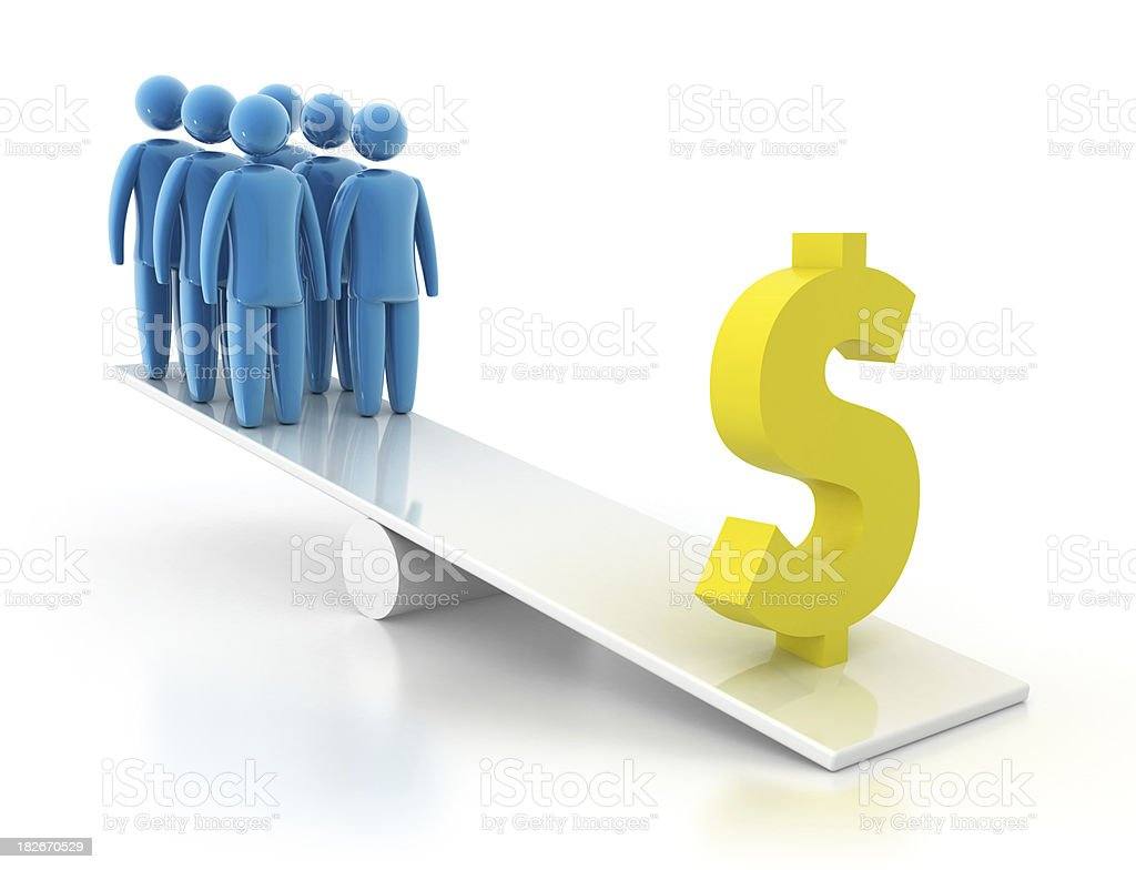 Dollar sign - Balance Concept stock photo