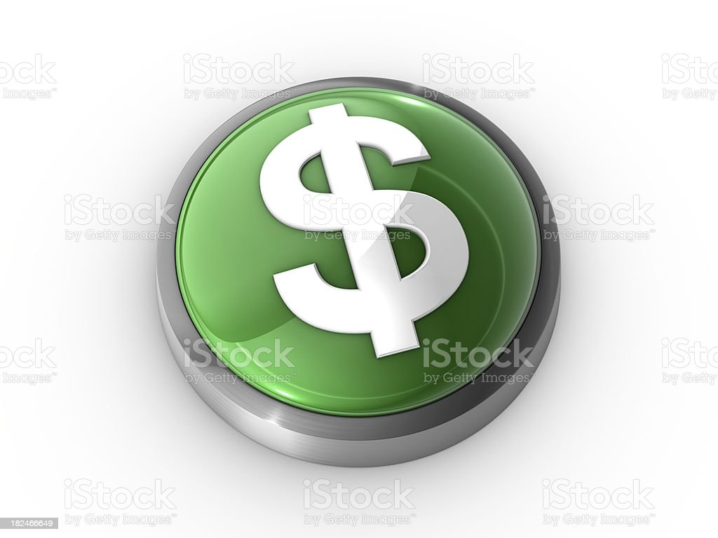Dollar Sign Button royalty-free stock photo
