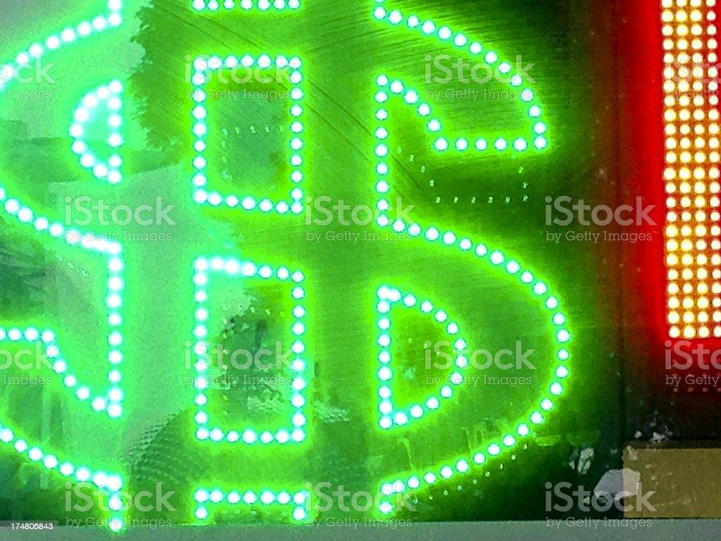 Dollar Sign in neon royalty-free stock photo