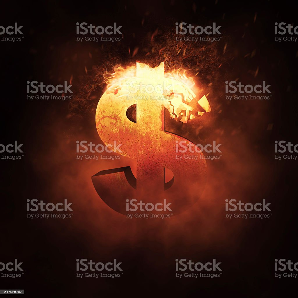 Dollar Sign on Fire – Foto