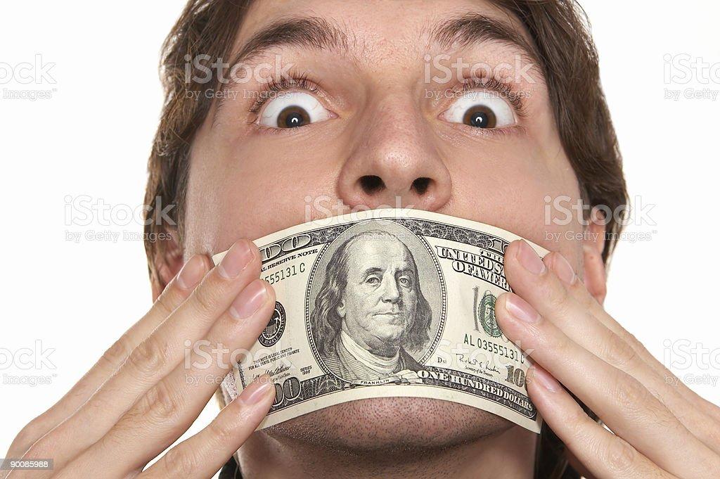 dollar silence royalty-free stock photo