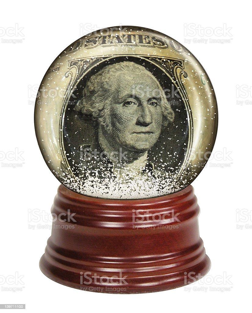 Dollar Snow Globe royalty-free stock photo