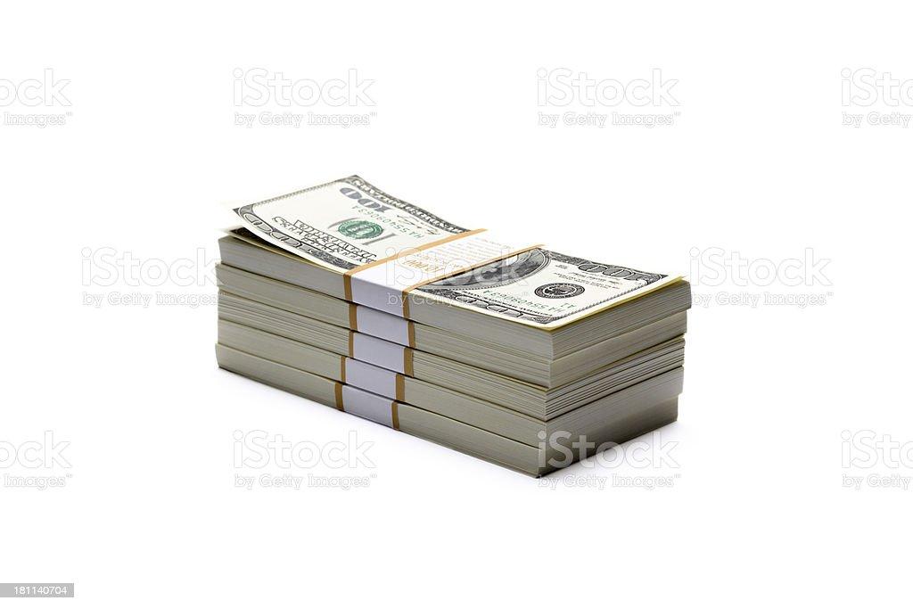 US dollar stack royalty-free stock photo