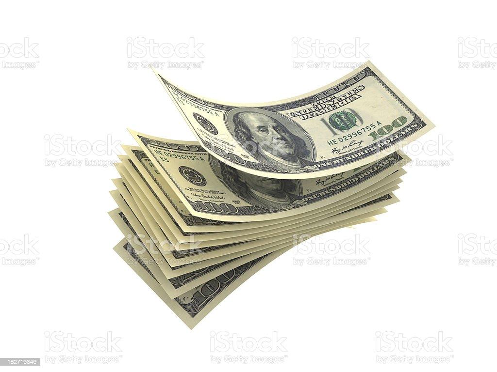 dollar stack royalty-free stock photo