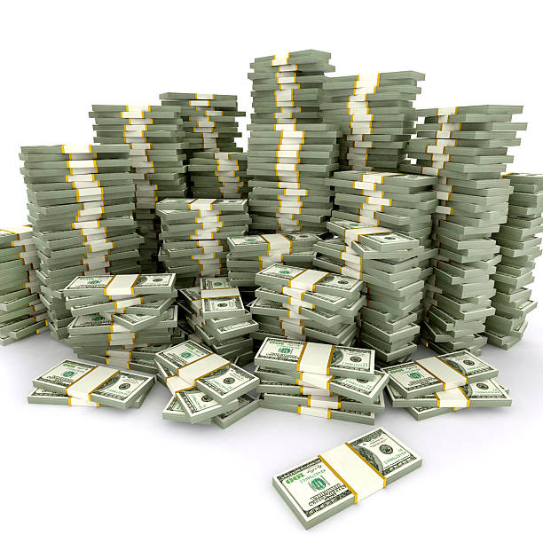 Stack di dollaro - foto stock
