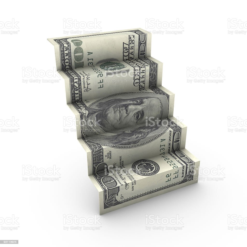 Dollar staircase royalty-free stock photo