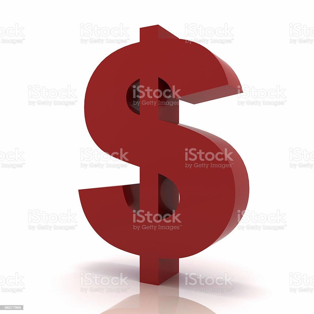 Simbolo del dollaro foto stock royalty-free