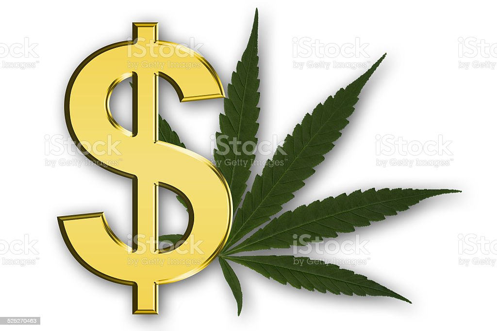 Dollar Symbol With Marijuana Leaf Stock Photo More Pictures Of