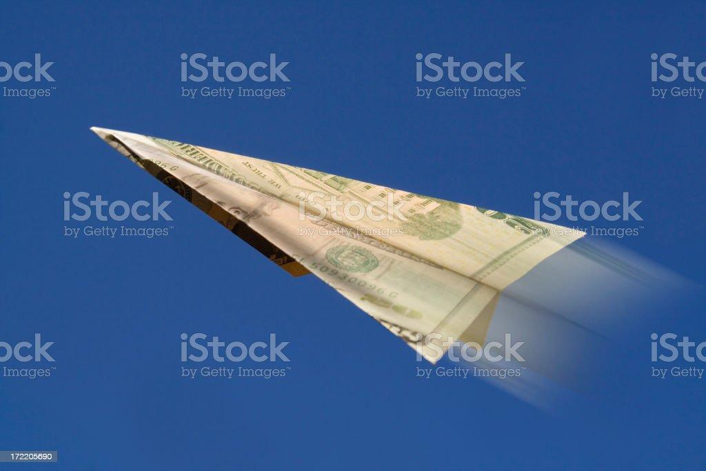 Dollar -Taking Off Motion stock photo