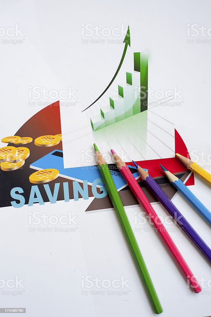 Dollar, the financial statements stock photo