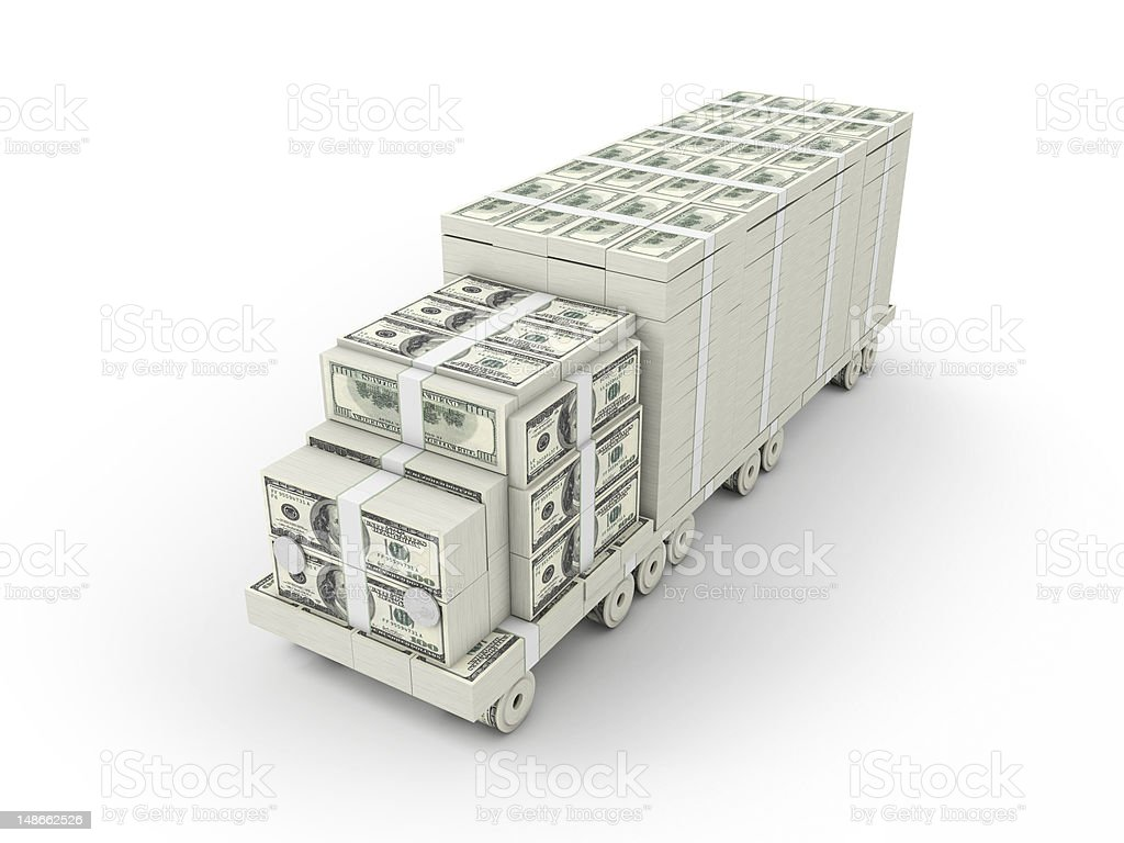 Dollar Truck 2 stock photo