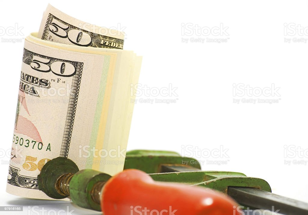 Dollar under pressure royalty-free stock photo