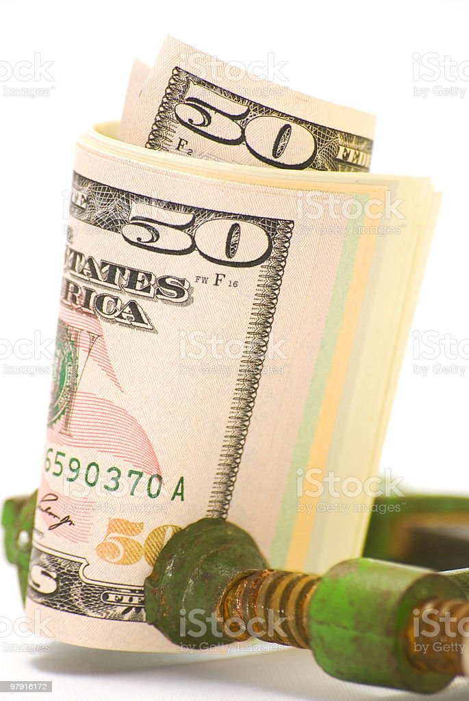 Dollar under pressure royalty-free stock photo