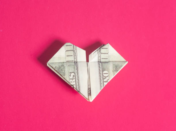 Royalty Free Dollar Bill Origami Heart Pictures Images And Stock