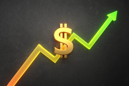 istock Dollar Value on bull market 1157075425