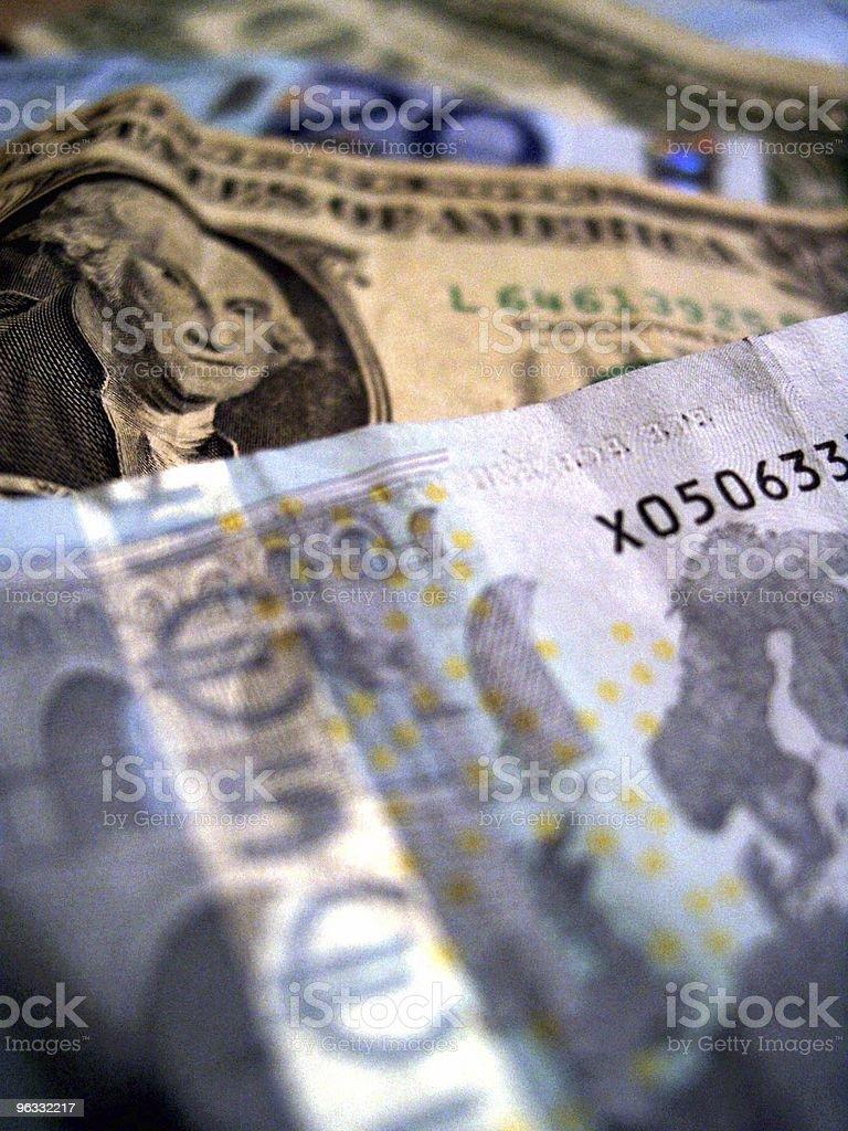 Dollar vs. Euro royalty-free stock photo