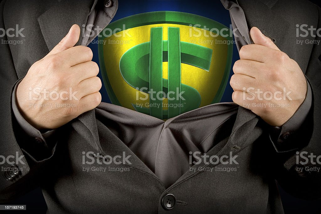 Dollarman II royalty-free stock photo