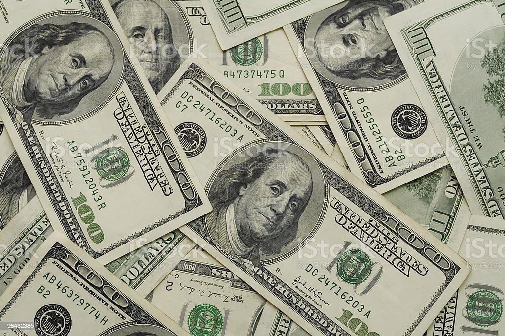 Dollars 100 royalty-free stock photo