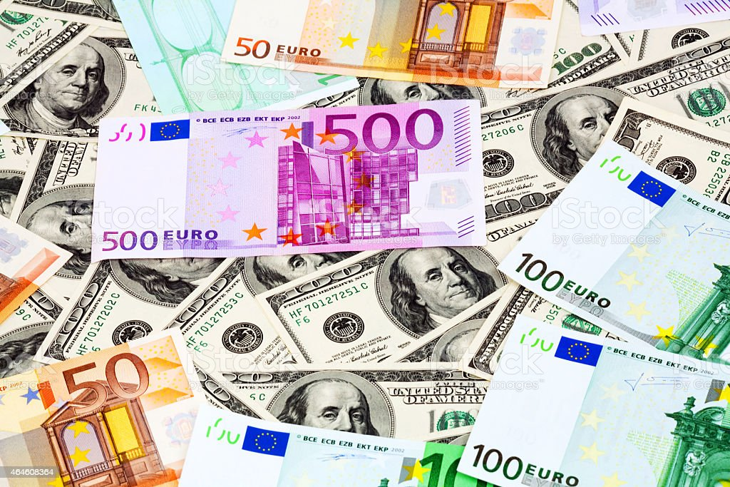 Dollars and Euro stock photo