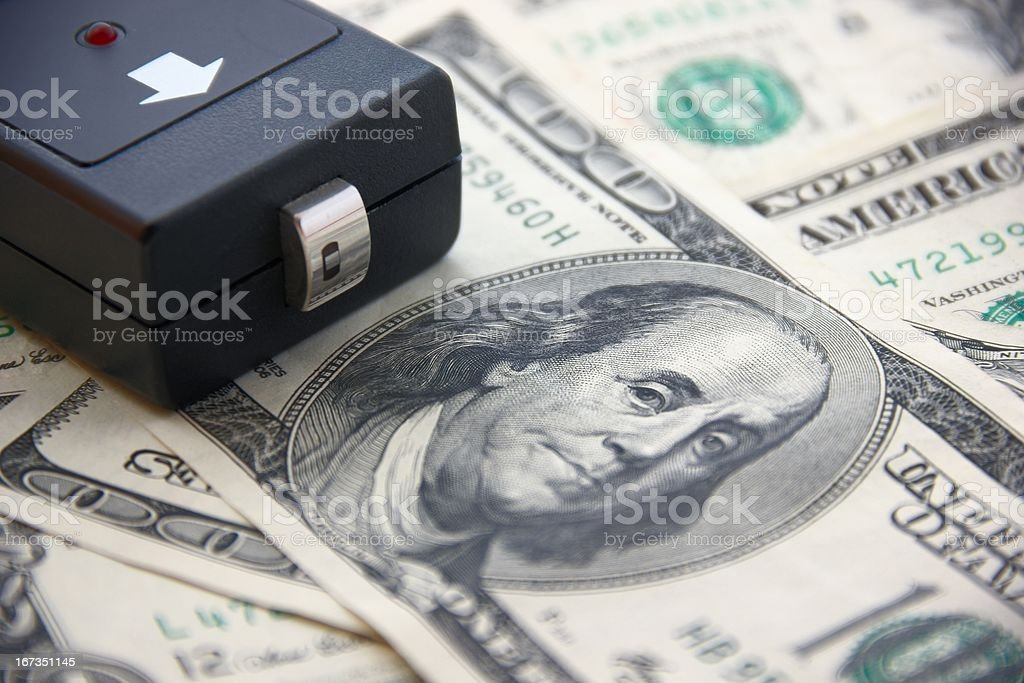 Dollars and Money Checker royalty-free stock photo