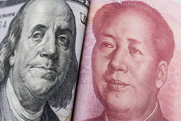 Dollars and RMB(Currency) Dollars and RMB(Currency) mao tse tung stock pictures, royalty-free photos & images