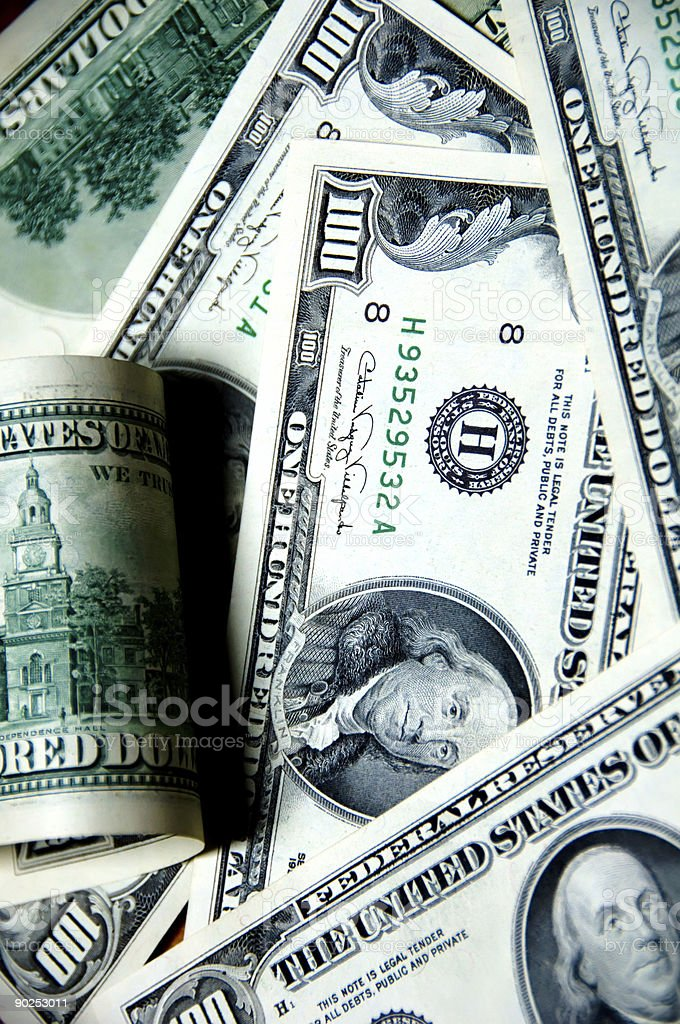 US Dollars background - money concept royalty-free stock photo