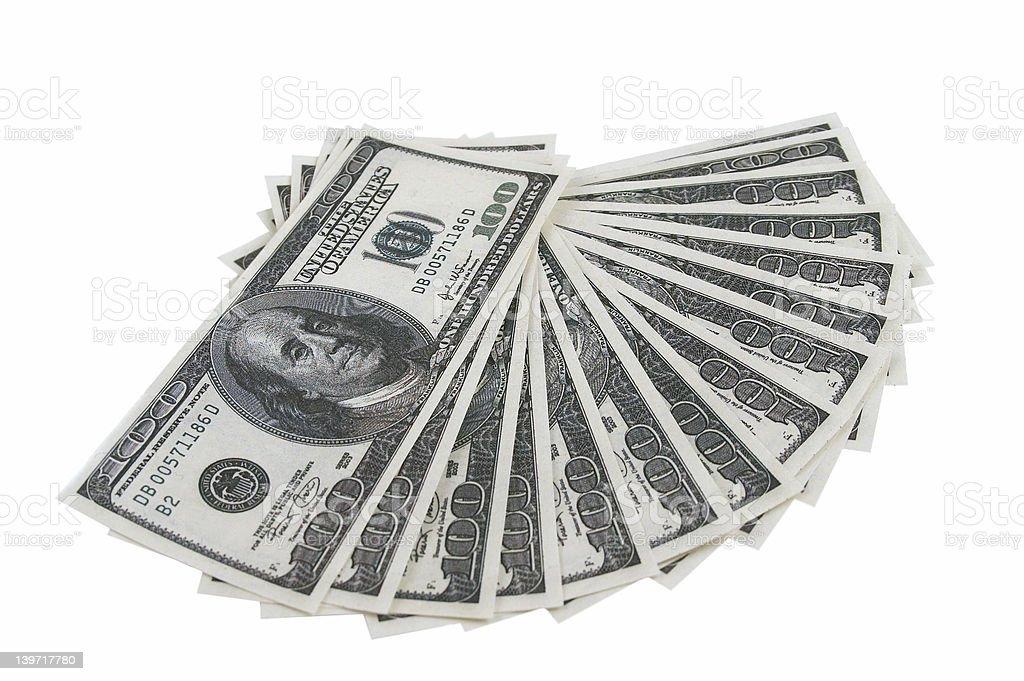 $100 dollars bill royalty-free stock photo