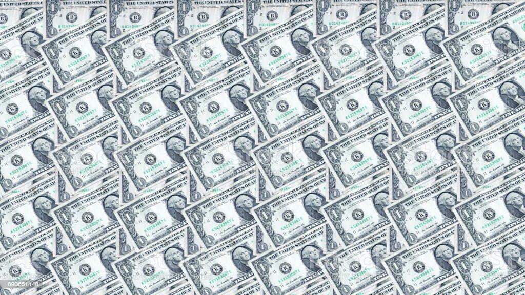 US dollars bills and banknotes. stock photo