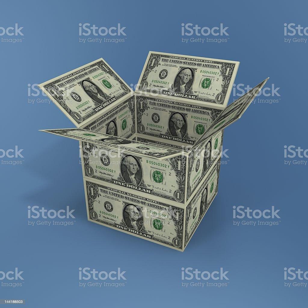 dollars box royalty-free stock photo